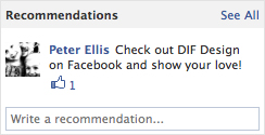 Facebook's new page feature - Recommendations