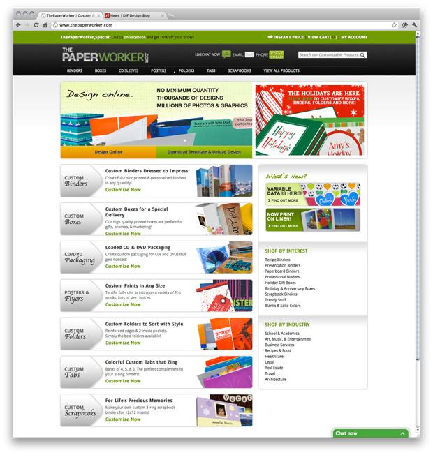ThePaperWorker website design