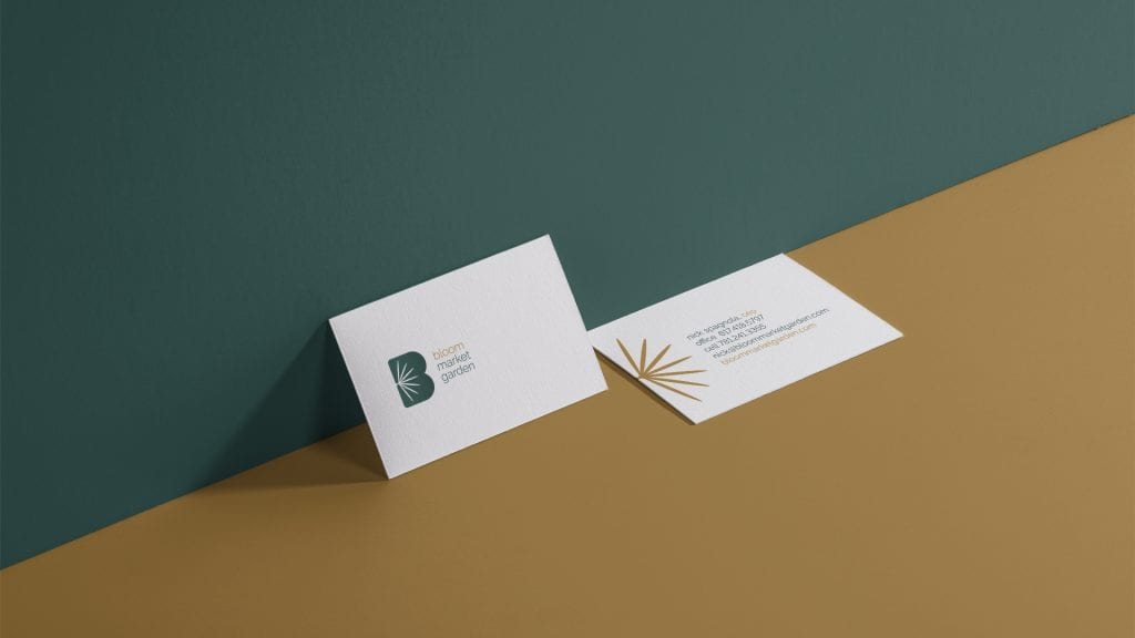 Bloom Market Garden business card design by DIF Design