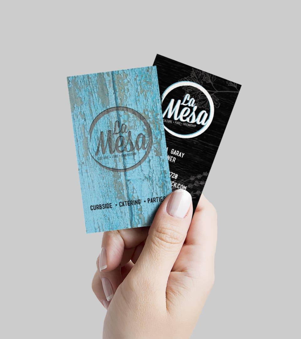La Mesa business card design by DIF Design