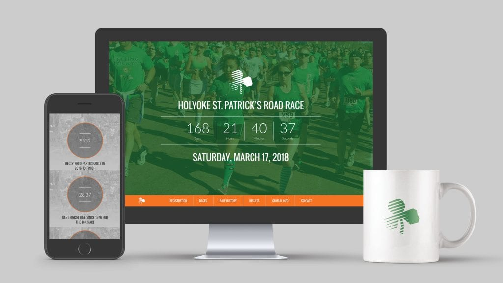 Holyoke St Patrick's Day Road Race website design by DIF Design