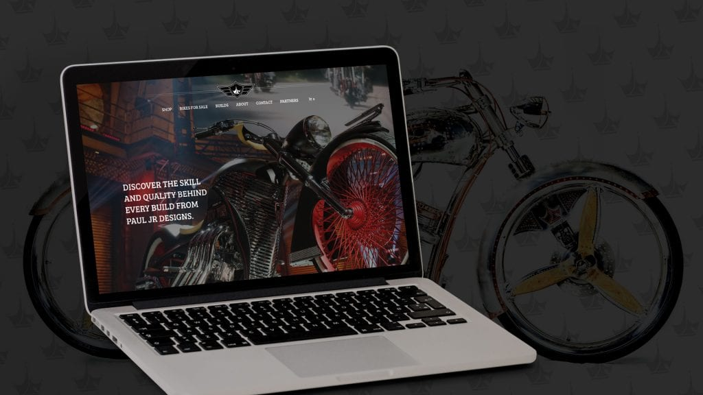 Paul Jr Designs website design and development by DIF Design