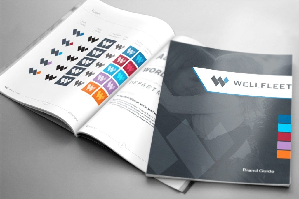 Wellfleet logo design and brand guide by DIF Design