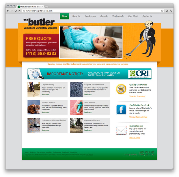 Butler Website Design