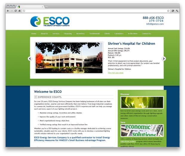 ESCO Website Design