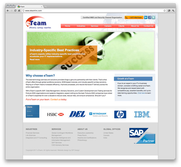 eTeam Website Design