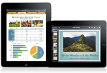 iPad for Pages, Numbers and Keynote
