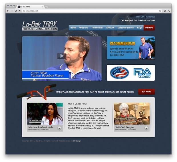 LoBak-Trax Website Design