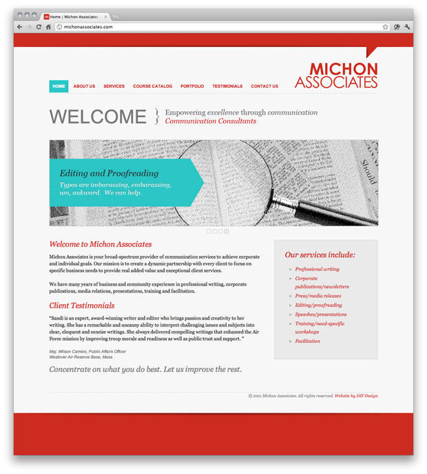 Michon Associates Website Design