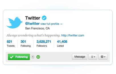 New Twitter - Mini Profile