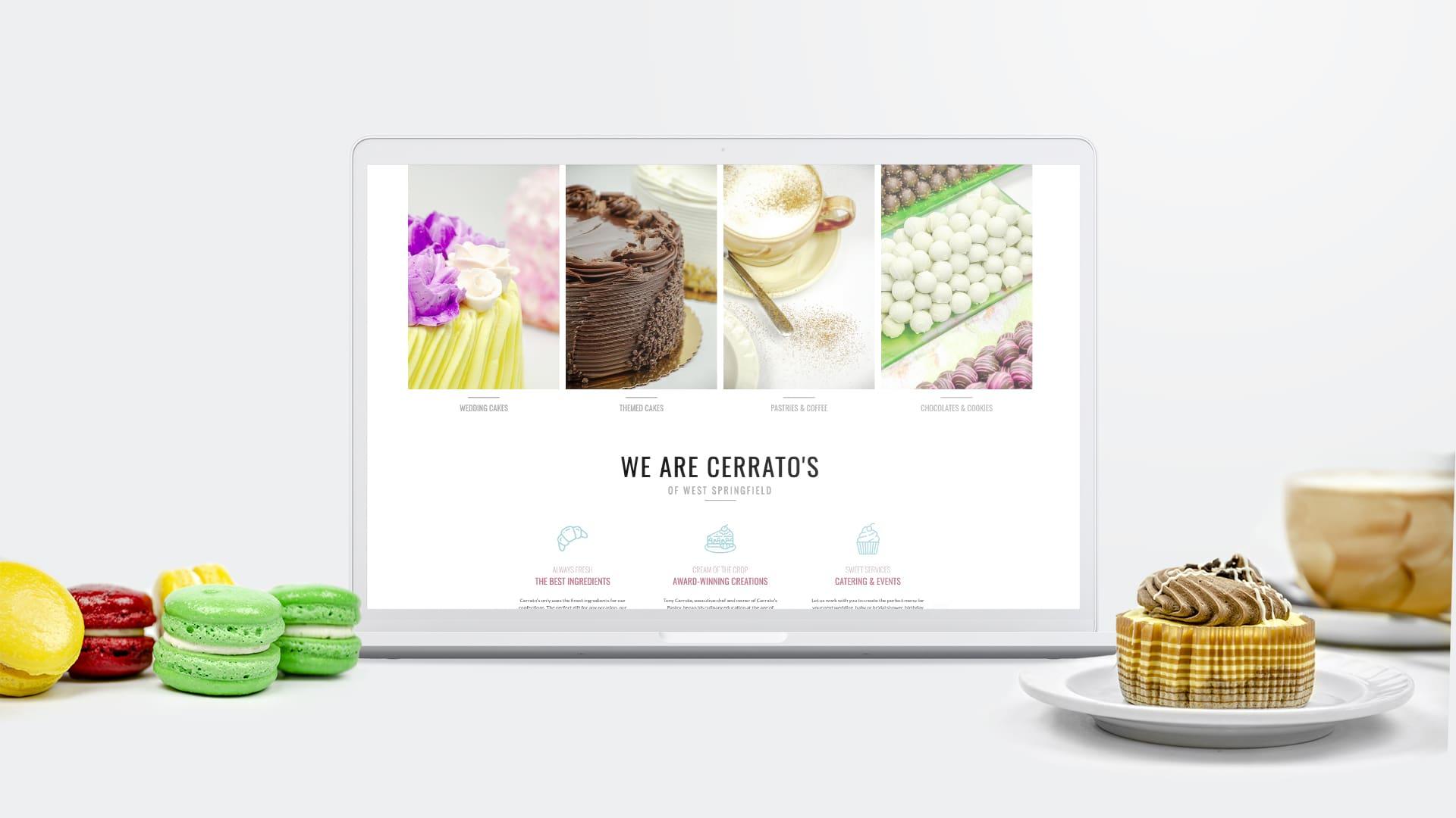 DIF Design Project - Cerrato's Bakery website design and development