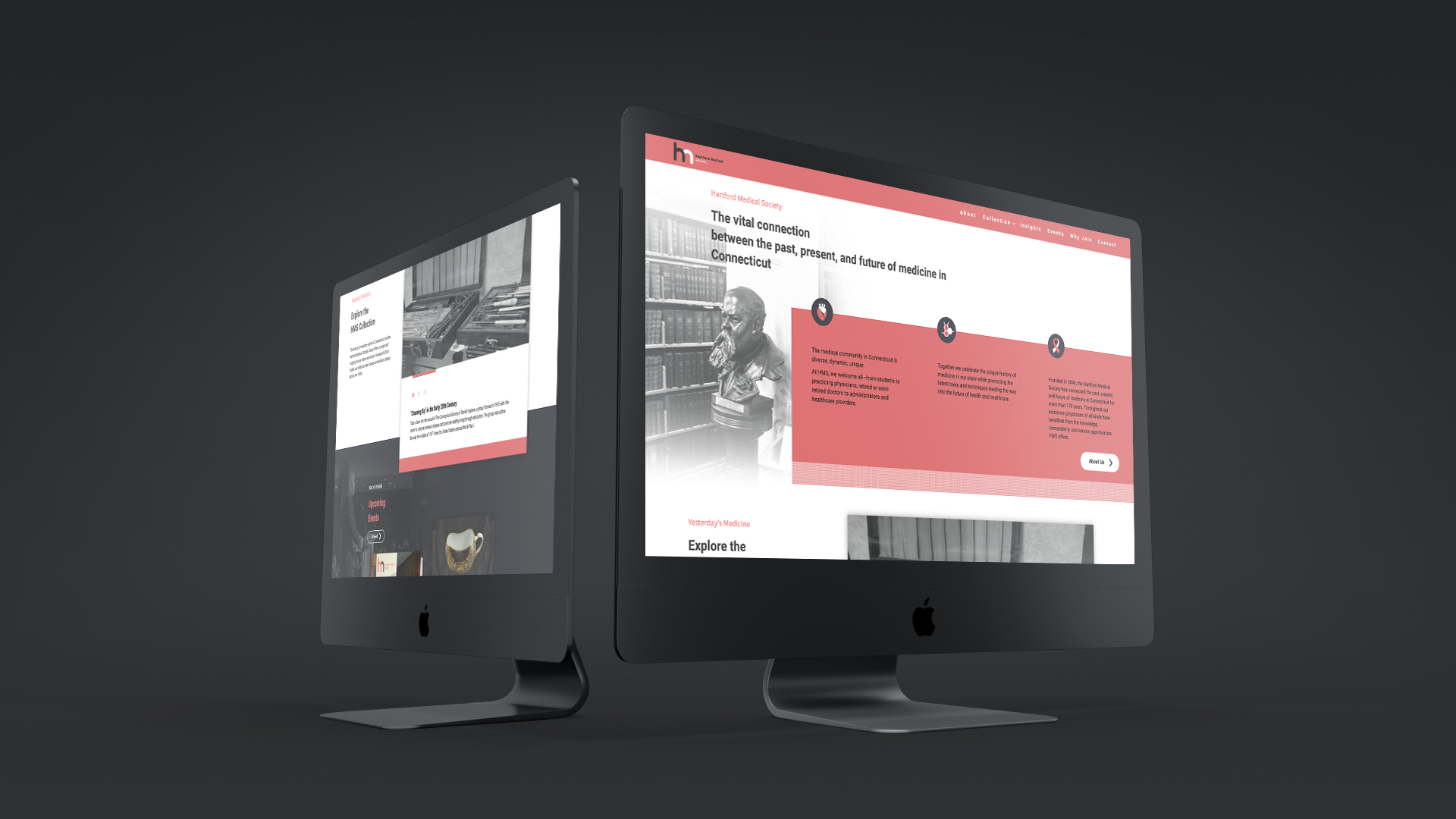 DIF Design Project - Hartford Medical Society website design and development
